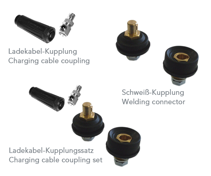 Charging cable coupling